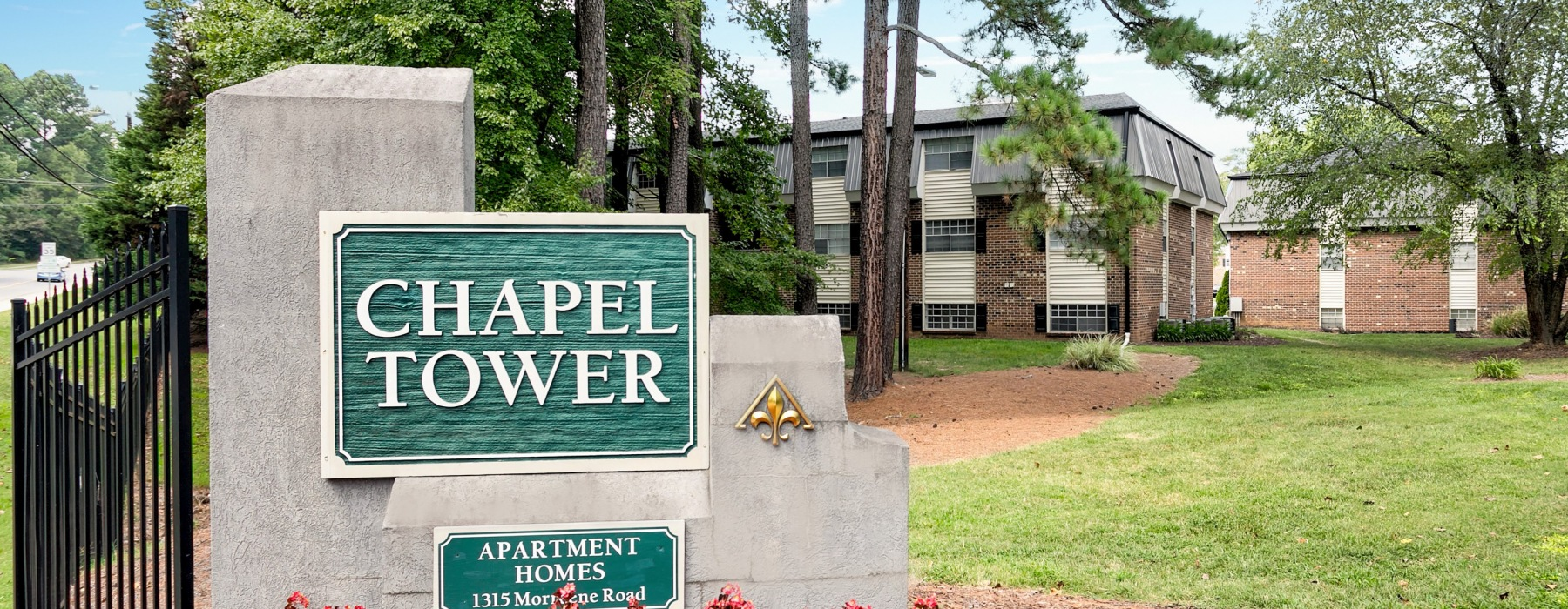 Chapel Tower Entrance Sign