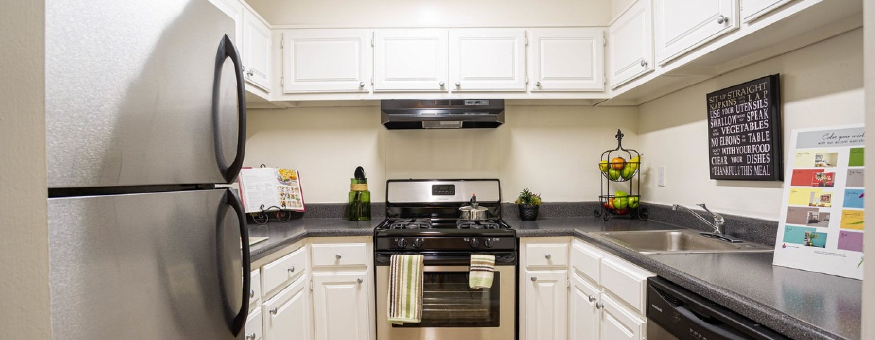 Renovated kitchens and stainless appliances
