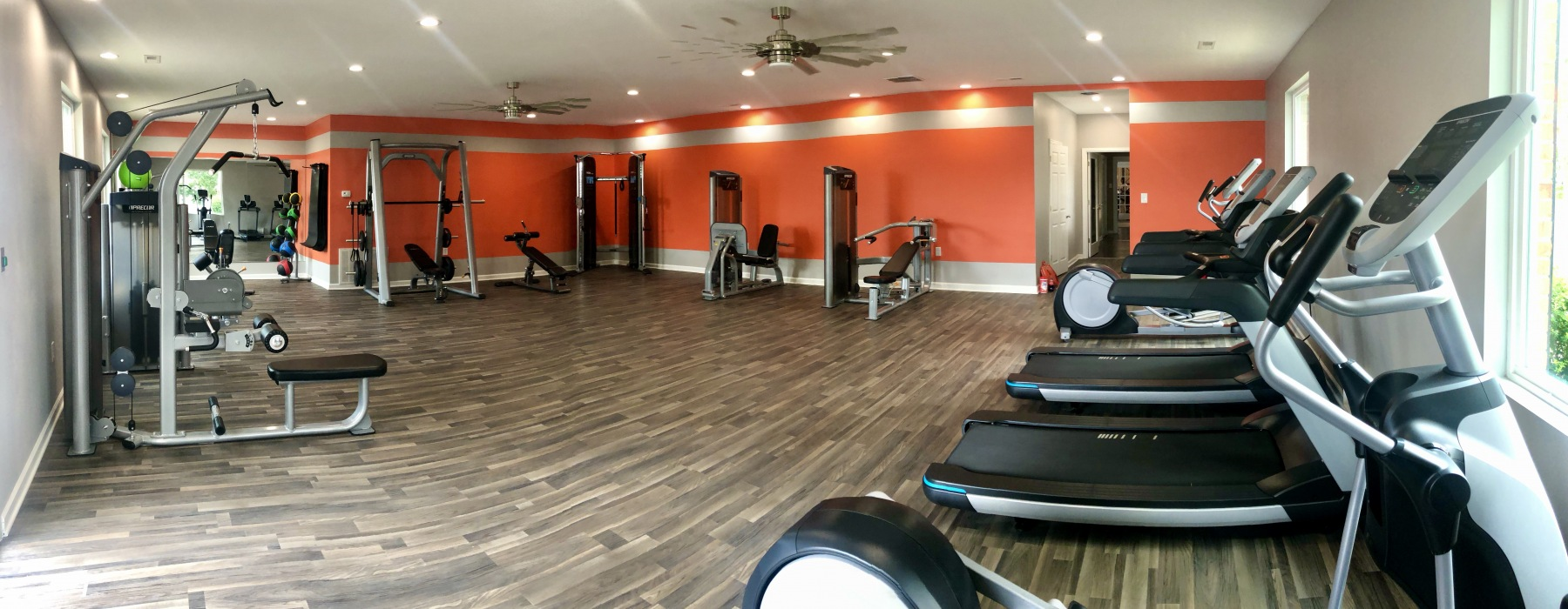 Bright and well equipped gym