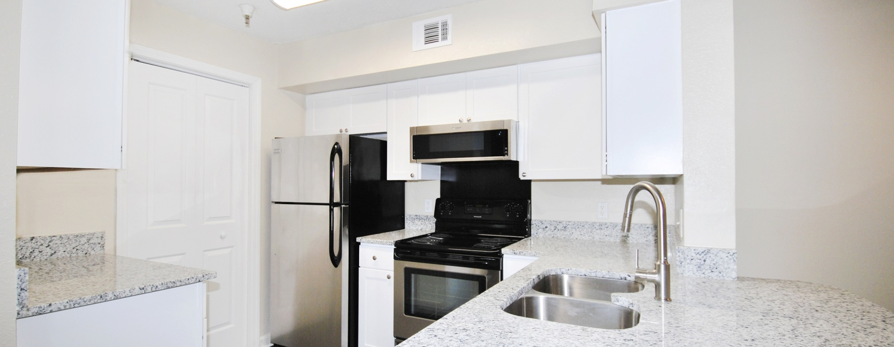 Renovated kitchens with granite countertops