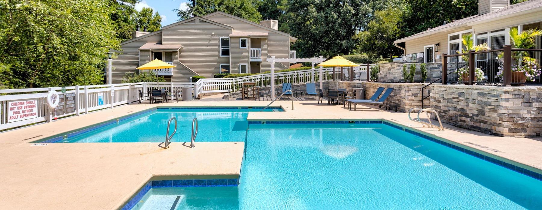 handicap ramp to pool area