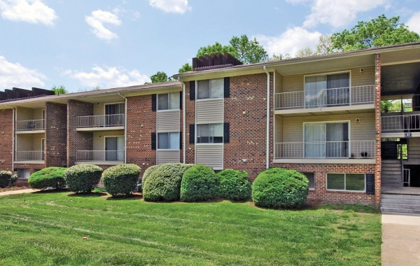 Holly Hills apartment exterior with large balconies