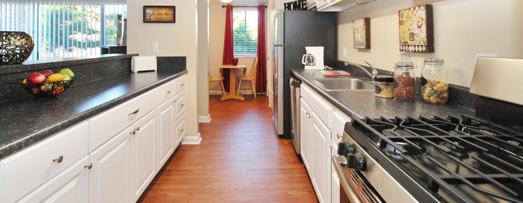 Open kitchen 2 bedroom floor plan
