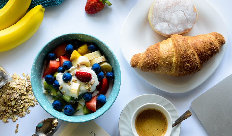 Lifestyle Image of a Fruit and Breakfast Spread