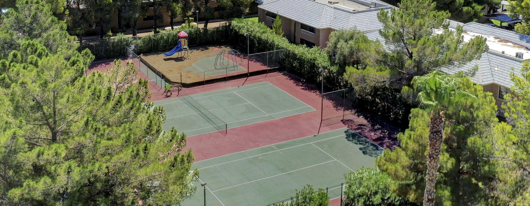 Children's Park With Nearby Tennis Courts